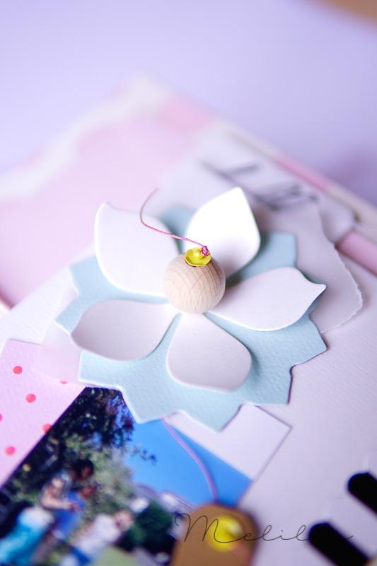 Pailletten Rausch mit Blume