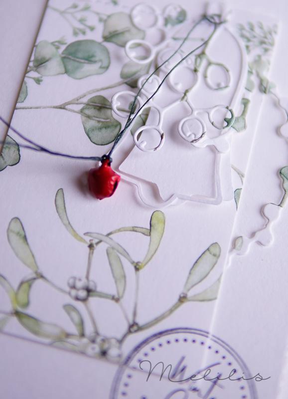Weihnachtskarten mit Glöckchen
